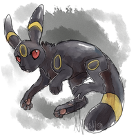 Umbreon by loriLUNACY