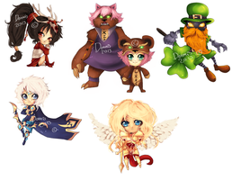 LEAGUE OF LEGENDS chibis set 2 by Donnis