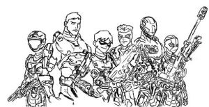 young spartans, outlines by whatthebooty