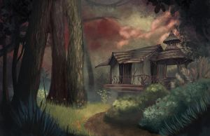 House in the woods by skelling-jen13