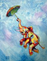 Umbrella Elephant by ellemrcs