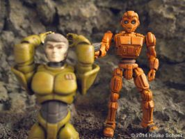 Robots vs. Androids 3D printed figures C by hauke3000
