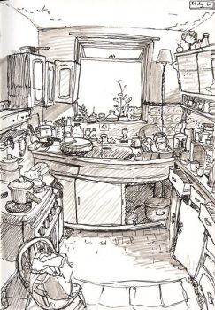 Kitchen scribble by LAGtheNoggin