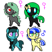 Adoptables 2! 4 Points each (CLOSED) by AskBubblesthePony