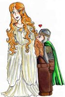 Galadriel and Gimli by bachel60