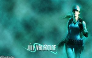 Jill Valentine RE5 Wall by shulaii