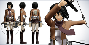 Mikasa - Shingeki no Kyojin (Attack on Titan) by NipahMMD