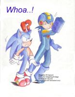 MegaMan and Sonic - Whoa by MilesTailsPrower-007