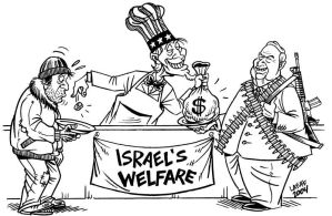 Welfare versus Warfare by Latuff2
