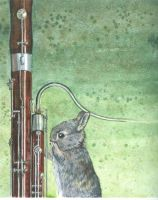Bunny Bassoon Portrait by SLKestrel