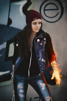 fem!Delsin Rowe by MarikaGreek
