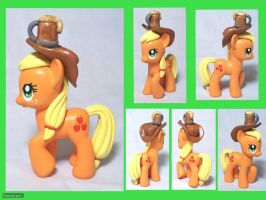 Applejack Custom Toy with Cider by CadmiumCrab