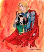 Thor x Loki: Crushed and Filled by ChocolateIsForever