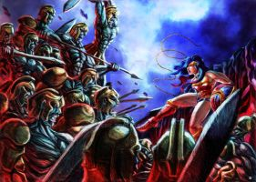 Wonder Woman vs Army of the Damned by cric