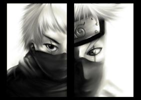 Rikimaru and Kakashi by Delun