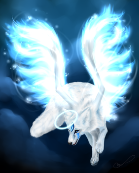 Commission #28 - Snowfox by Martith