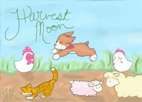 Harvest Moon: Chickenscratch. by gwensaer
