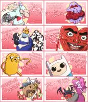 Adventure Time Valentines by CleverAvian