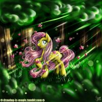 MLP: Fluttershy - Golden Butterfly by Mana-Kyusai