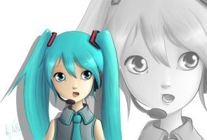 Little Miku by psyAlera