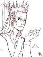 Thranduil sketch by MauroIllustrator