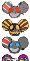 mau5head scribbles by Bumblebeat