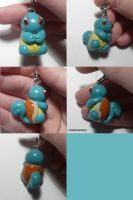 Squirtle Charm by ChibiSilverWings