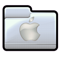 Apple Logo Folder Icon by asianplatypus6