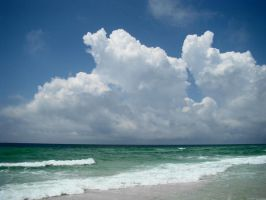 Thunderheads on the Gulf by GramMoo