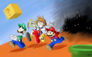 Mario And Sora by GreenMage