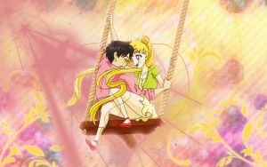 Usagi and Mamoru by FullScubb