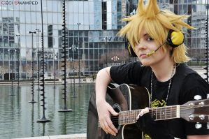 Like an album cover. -Len Kagamine by SetsukiMeigetsu