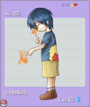 Imagine pokemon as people! - Page 2 PKMN___Cyndaquil_by_lilith_lips
