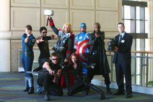 Avengers at MegaCon 2013 by Lady-Skywalker