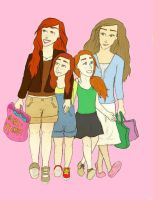girls day out coloreddd. by twirkle