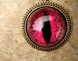 Blood to Brick to Pink with Black Veins Pendant by LadyPirotessa
