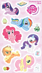 My Mini Ponies Sticker Sheet by Shattered-Earth