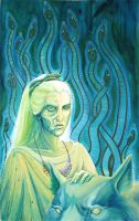 Queen Hel, with doggie by Relotixke