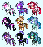 Kawaii Pony Adopts #1 -CLOSED- by KalineReine