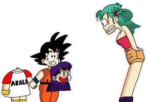 It's Arale, Bulma by RisanF