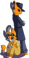 Dapper and Gizmo (AT) by Sherushi