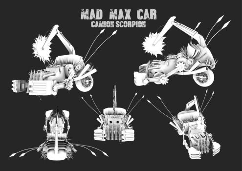 Final 3D model - Mad Max car project by PinkShooter-chan