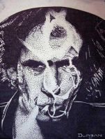 Keith Richards - Pointalism by edgen
