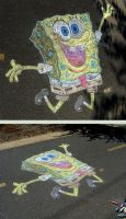 SpongeBob Sidewalk Chalk by mattmcmanis