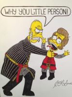 Simpsons Tywin and Tyrion Lannister by timburtongot