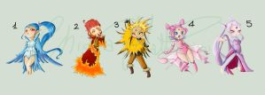 Pokemon Gijinka ADOPTABLES !!! Open by VioletKy