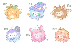 [CLOSED] Octopuffs #10 - 15 (Set Price) by Sarilain