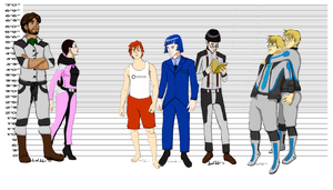 RP Height Comparisons by AzureNightshade