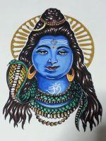 Lord Shiva Sketch by saintvinod