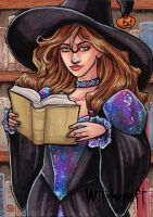 Witchcraft Sketch Card - Lynne Anderson 3 by Pernastudios